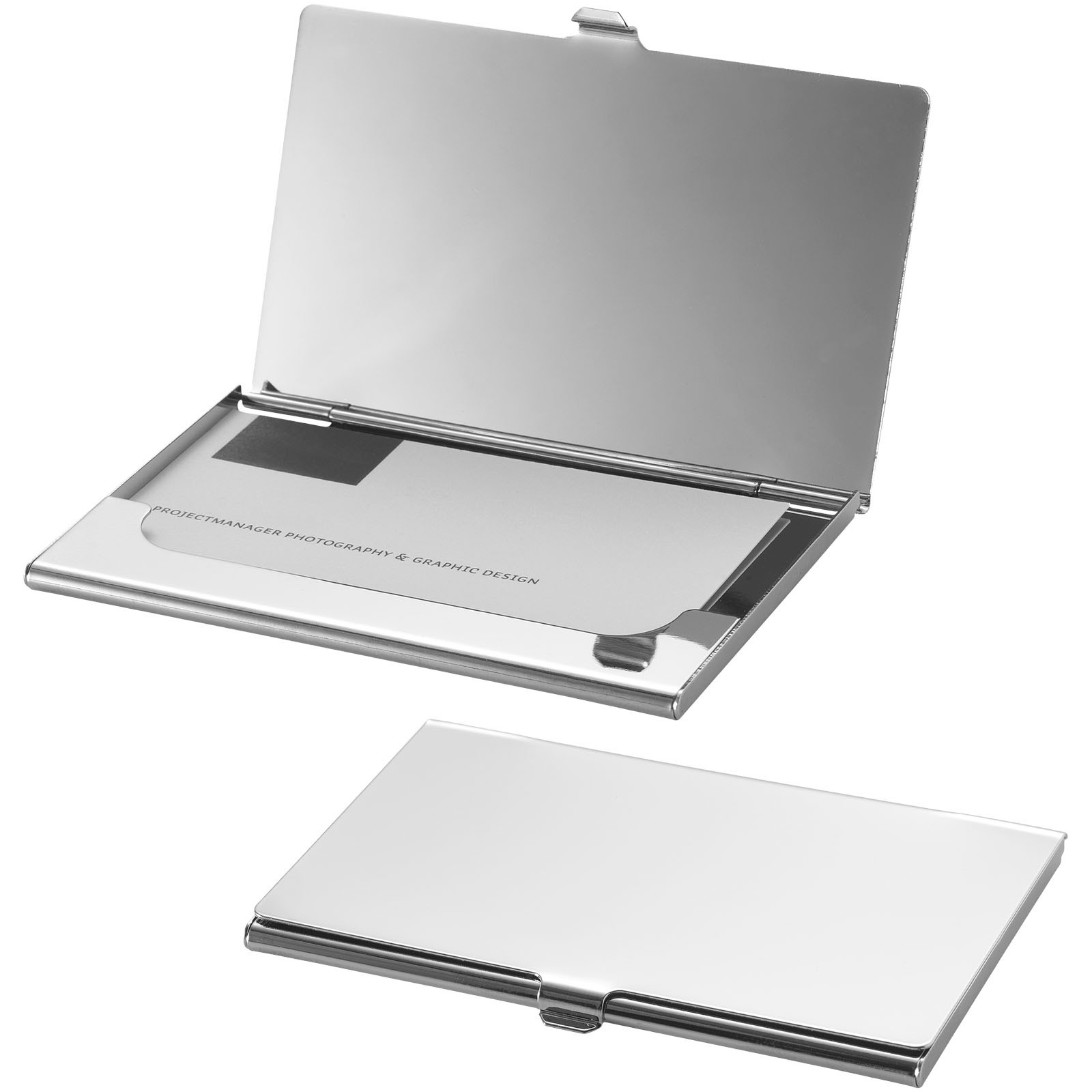 New York business card holder silver Metal business card