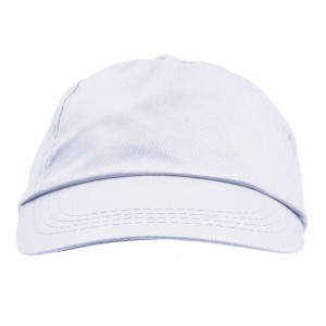 100% cotton twill cap, white (9128-02CD)