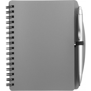 A6 Spiral notebook and ballpen, Grey (5139-03CD)