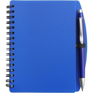 A6 Wire bound notebook and ballpen, blue (5139-05CD)