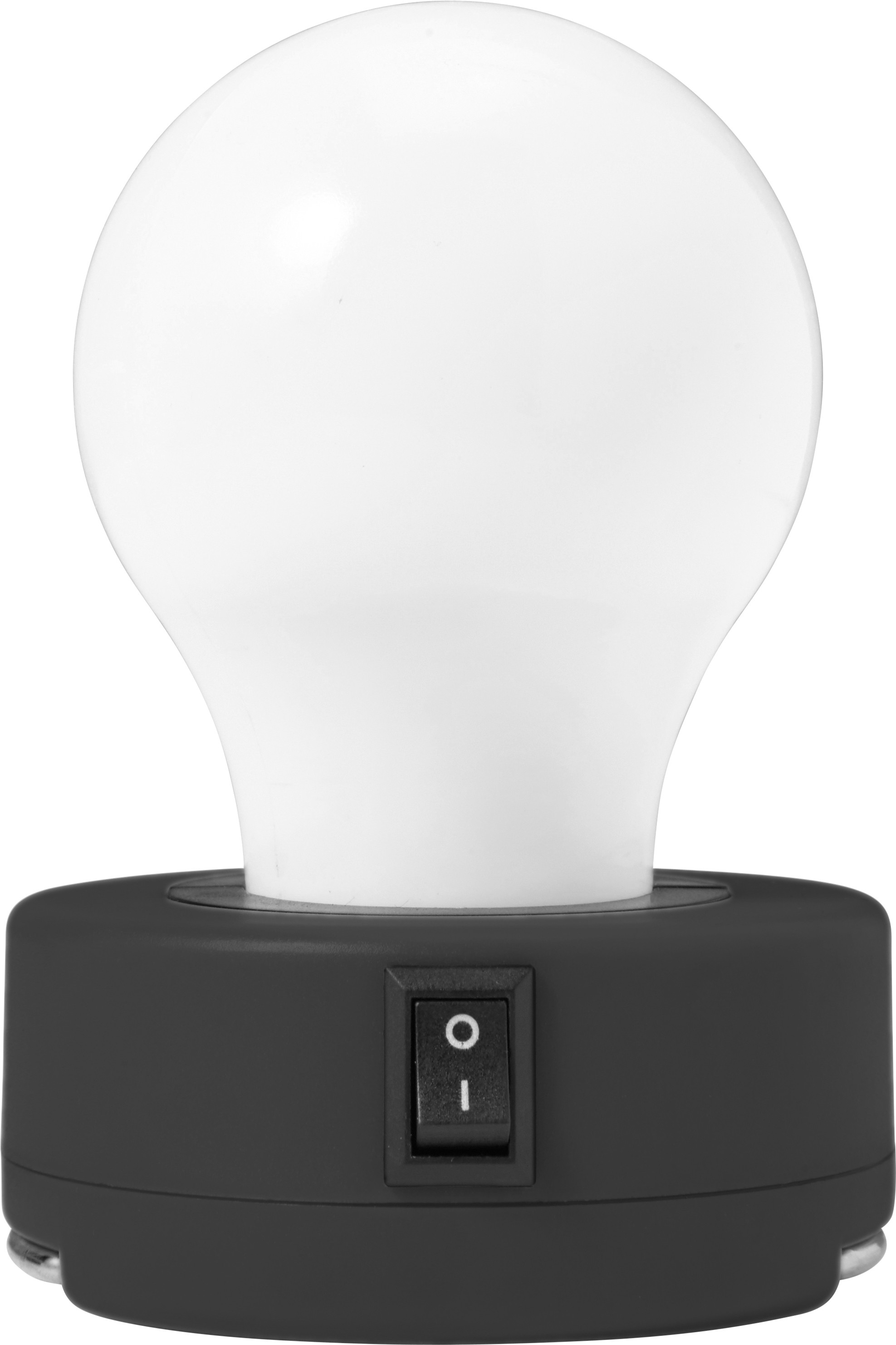 Abs Bulb Light With On Off Switch Black
