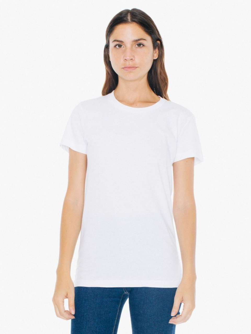 American Apparel WOMEN S FINE JERSEY SHORT SLEEVE T-SHIRT 6c0c9ad224
