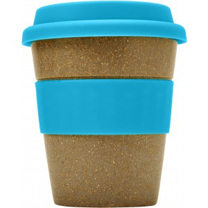 Bamboo cup (350ml), Pale blue (glass)