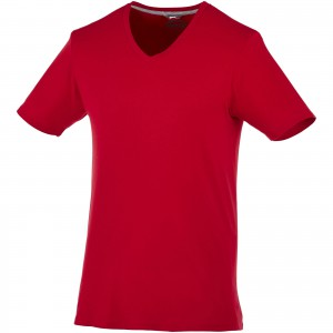 Bosey short sleeve men's v-neck t-shirt, Dark red (3302128)