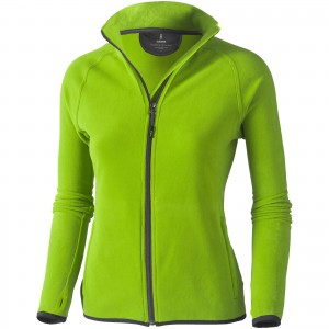 Brossard micro fleece full zip ladies jacket, green, S (3948368)