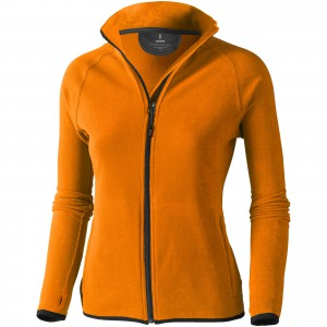 Brossard micro fleece full zip ladies jacket, orange, XS (3948333)