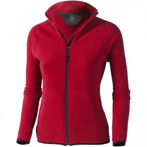 Brossard micro fleece full zip ladies jacket, red, S (3948325)