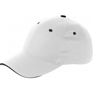 Cap with sandwich peak, white (9120-02CD)
