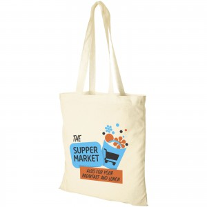 Carolina cotton Tote, white, 38 x 42 cm (shopping bag)