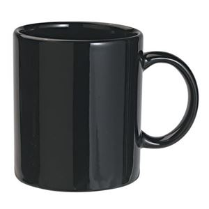Ceramic mug, 0.3 ltr, black (mug)