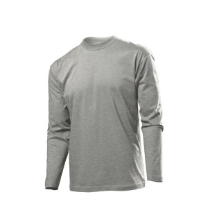 Classic-T Long Sleeve Long Sleeve T-Shirt, Grey Heather, S (ST2500.GYH)