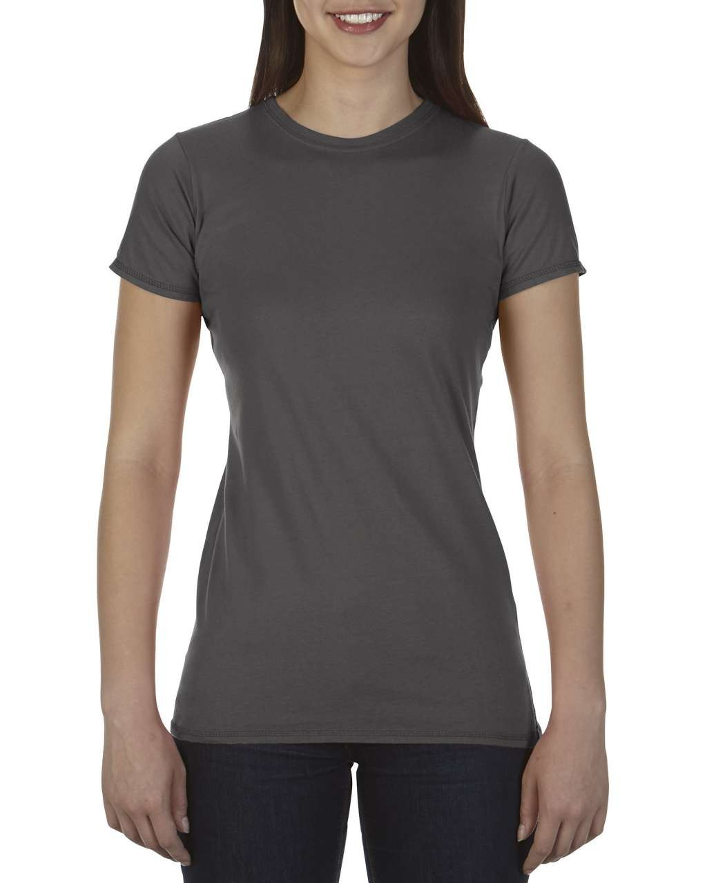 08be3296a Comfort Colors Ladies Fitted Tee, Pepper, M (T-shirt, 90-100% cotton ...