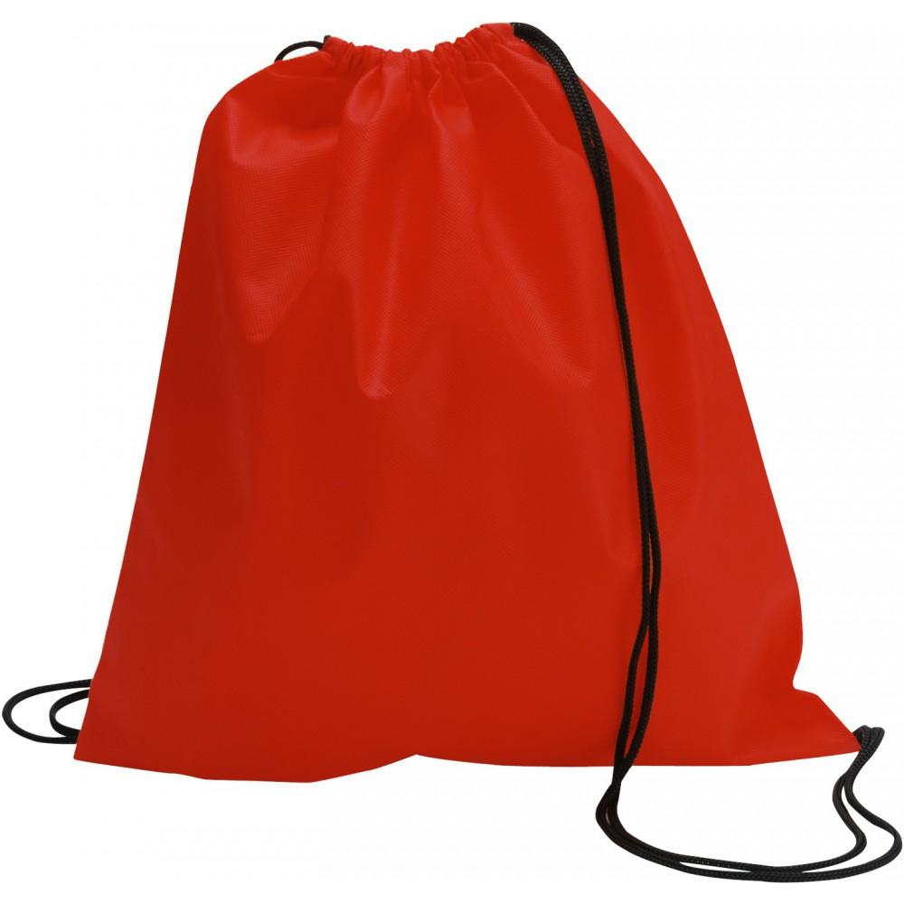 Drawstring bag, non woven, Red (backpack) - Reklámajándék.hu Ltd.