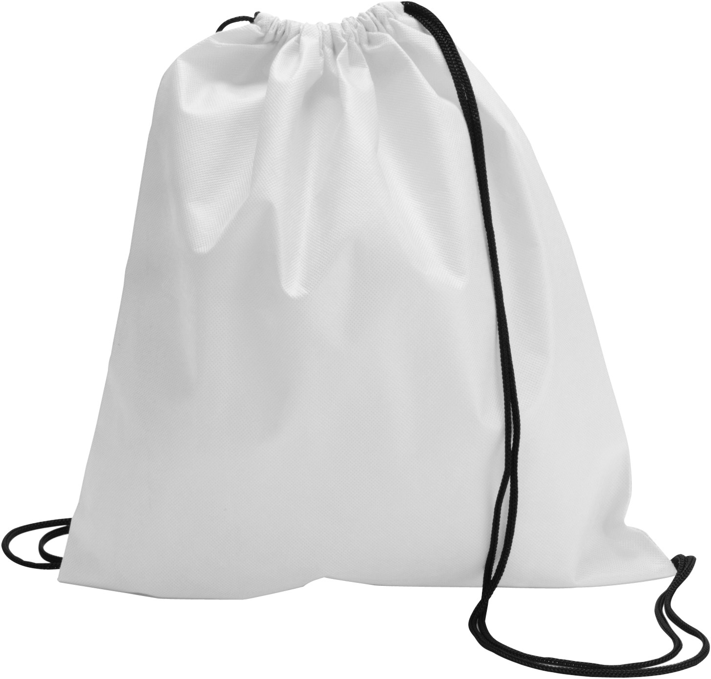 Drawstring bag, non woven, White (backpack) - Reklámajándék.hu Ltd.