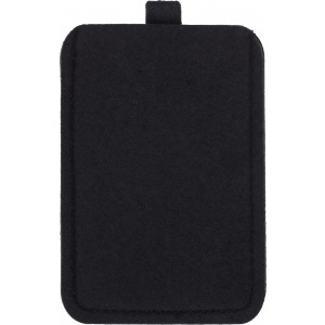 Felt mobile phone pouch., Black (3760-01)