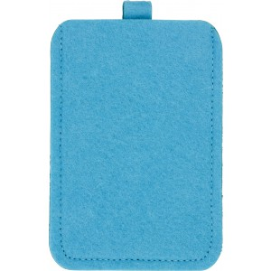 Felt mobile phone pouch., Pale blue (3760-18)