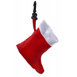 Foldable Christmas shopping bag, red/white (Shopping bags)
