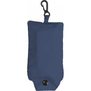 Foldable polyester (190T) carrying/shopping bag, Blue (shopping bag)