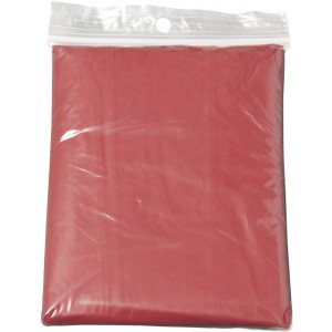 Foldable PVC poncho, red (9504-08CD)