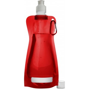 Foldable water bottle (420ml), red (7567-08CD)