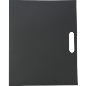 Folder with natural card cover, black (6417-01)
