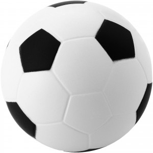 Football stress reliever, White, solid black (10209900)