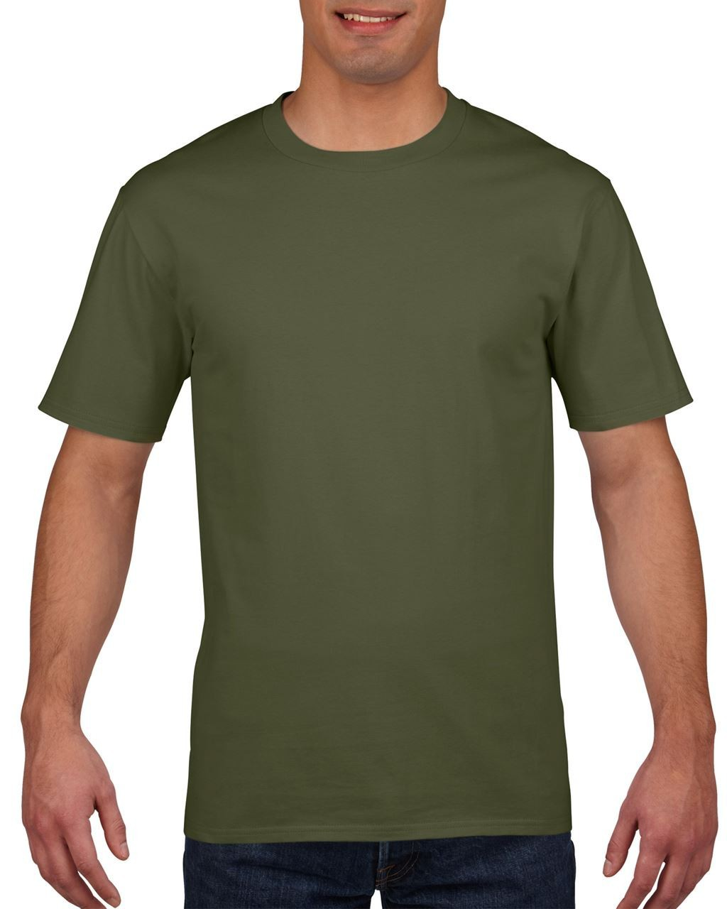 660ddd5f Gildan Premium Cotton Adult T-shirt, Military Green, 2XL (T-shirt ...