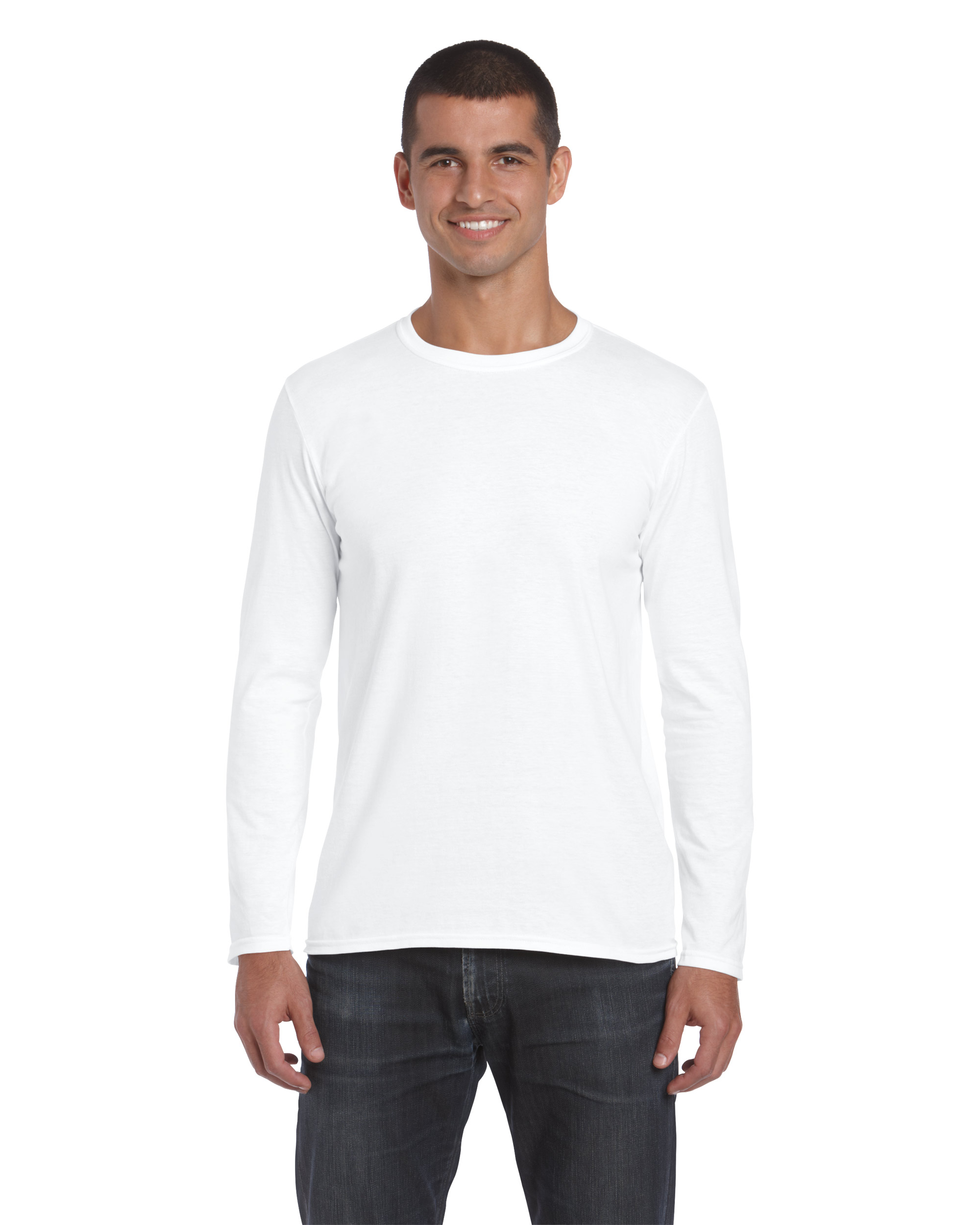 5df70f173 Gildan SoftStyle Adult Long Sleeve T-shirt, White, L (T-shirt, 90 ...