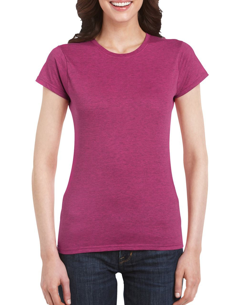 d37d6acb Gildan SoftStyle Ladies T-shirt, Antique Heliconia, S (T-shirt, 90 ...
