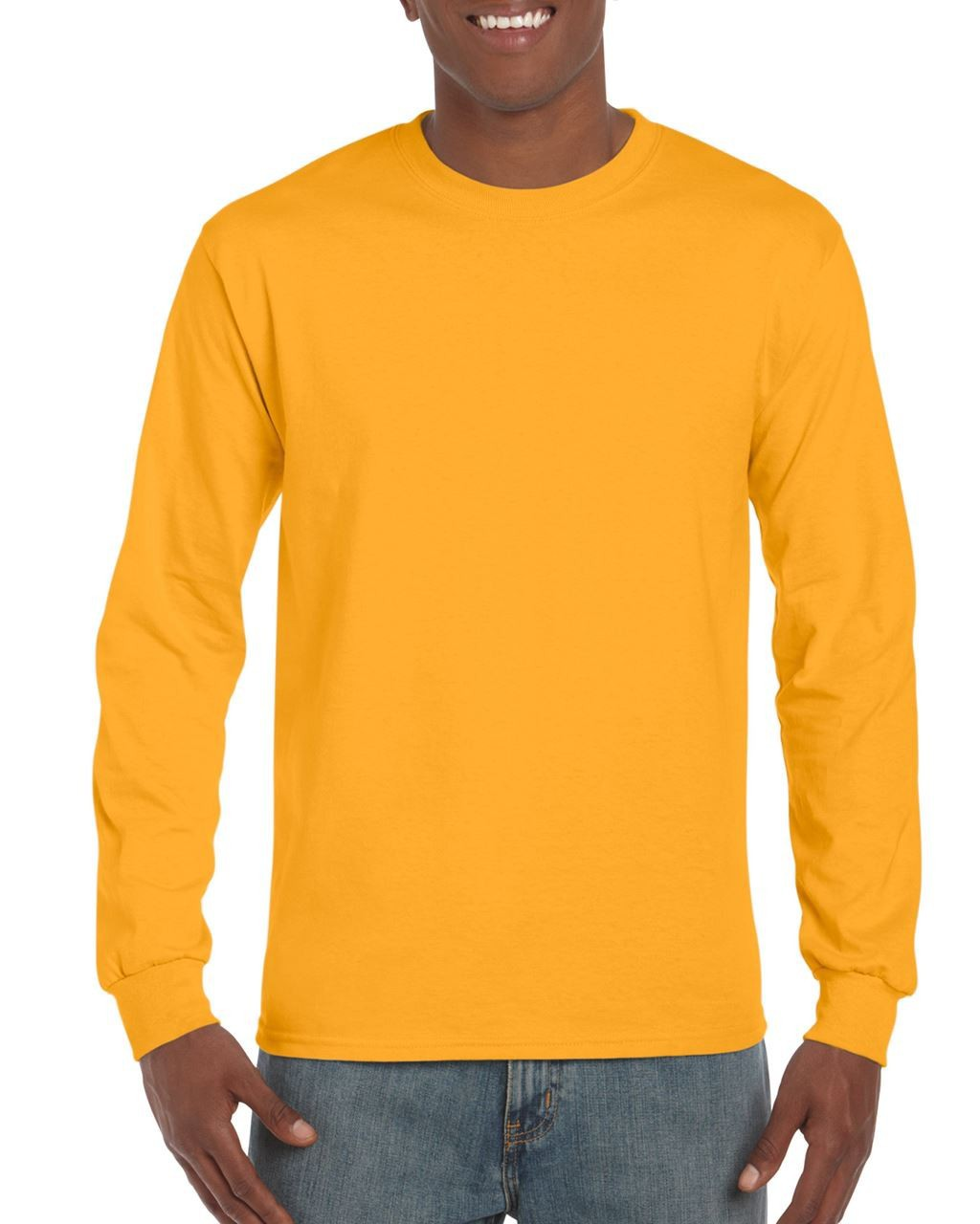 509c0390 Gildan Ultra Cotton Adult Long Sleeve T-shirt, Gold, XL (long.sleeve ...