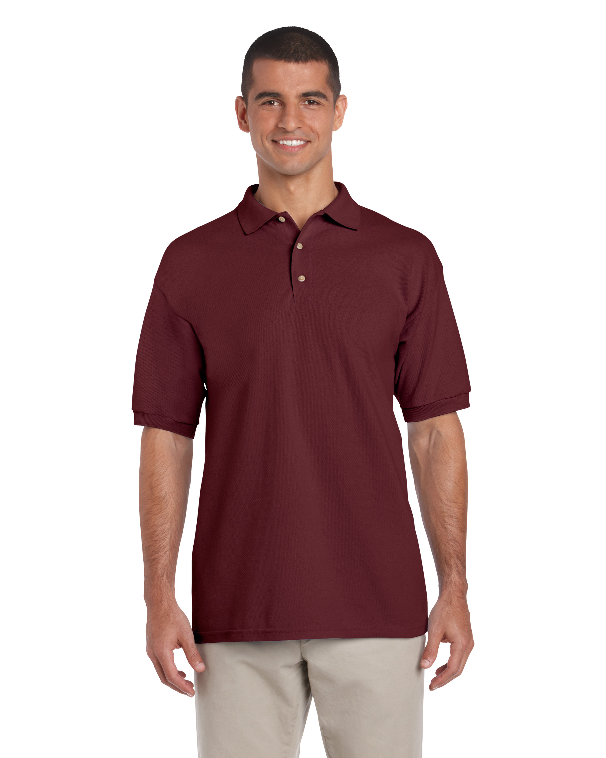 Gildan Ultra Cotton Adults Pique Polo Maroon M T Shirt