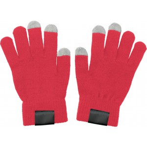 Gloves for capacitive screens., red (5350-08)
