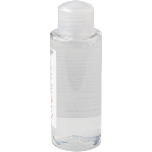 Hand gel bottle (100 ml) with 70% alcohol, transparent (9372-21)