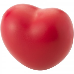 Heart-shaped stress reliever with PU foam, Red (19544334)