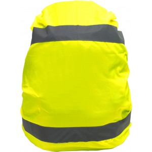 High visibility backpack cover, yellow (Bycicle items)