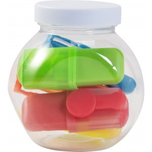 Jar with highlighters, custom/multicolor (8562-09)