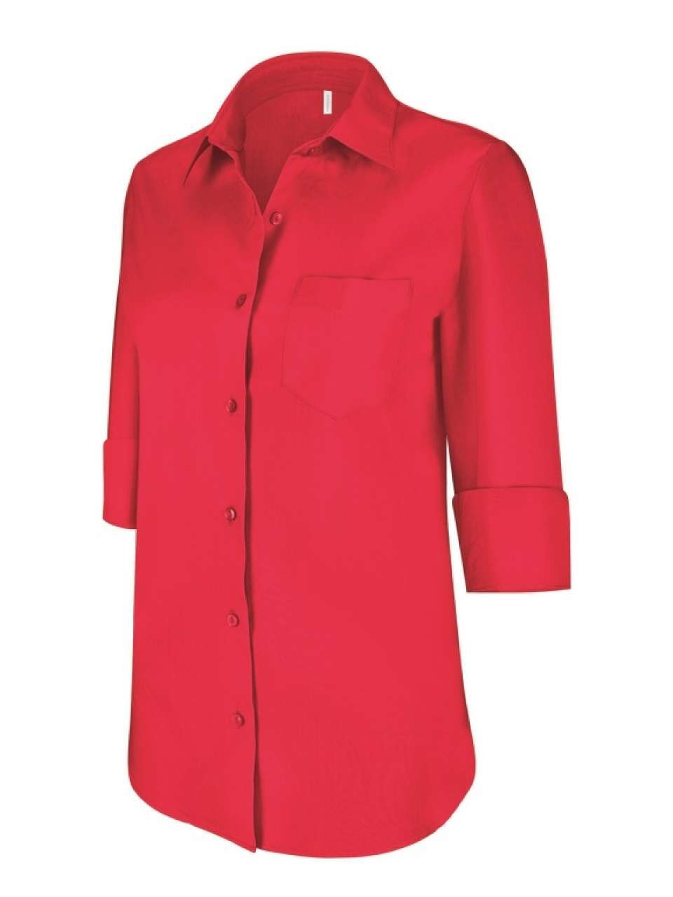 3b98d594 Kariban Ladies 3/4 Sleeve Blouse, Classic Red, L (shirt ...