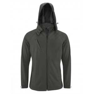 Kariban Men's Hooded Softshell Jacket, Titanium, S (KA413TI)