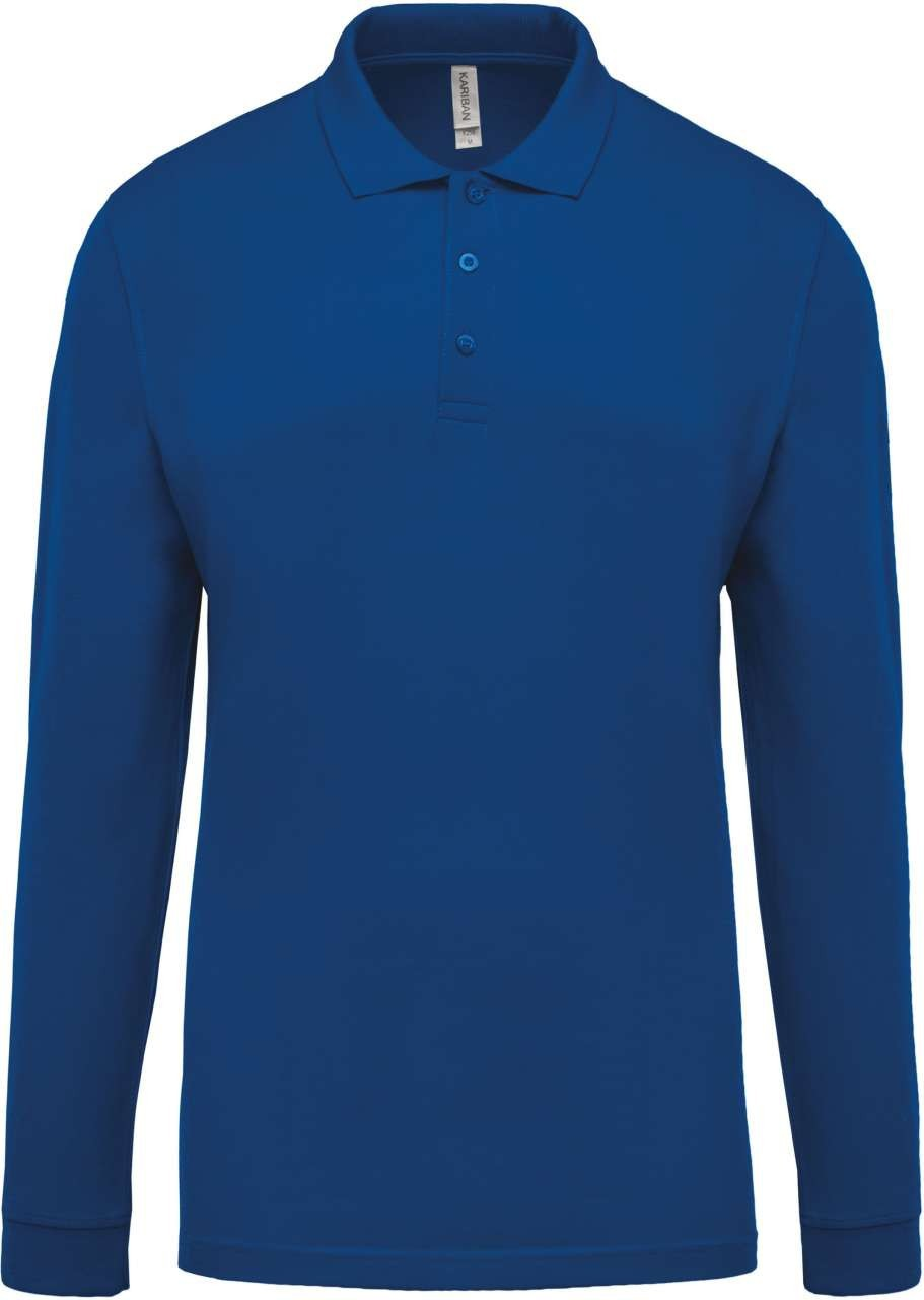 dfc78b3d9157 Kariban Men's Long Sleeve Polo Shirt, Light Royal Blue, L (long.sleeve