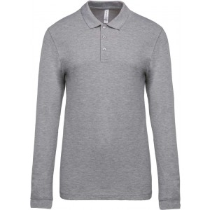 Kariban Men's Long Sleeve Polo Shirt, Oxford Grey, 2XL (KA256OXG)