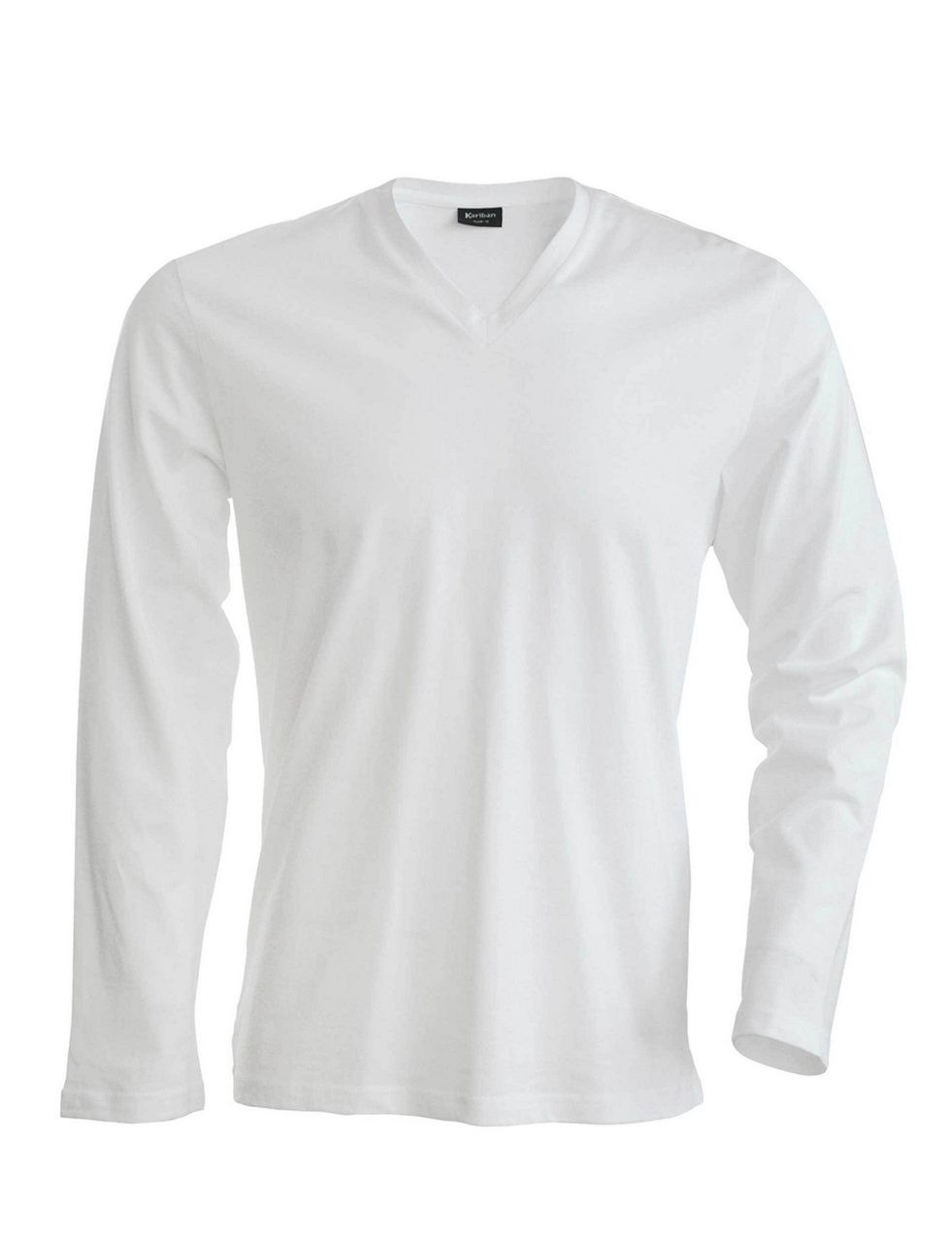 56ff245ff618 Kariban Men s Long Sleeve V-neck T-shirt