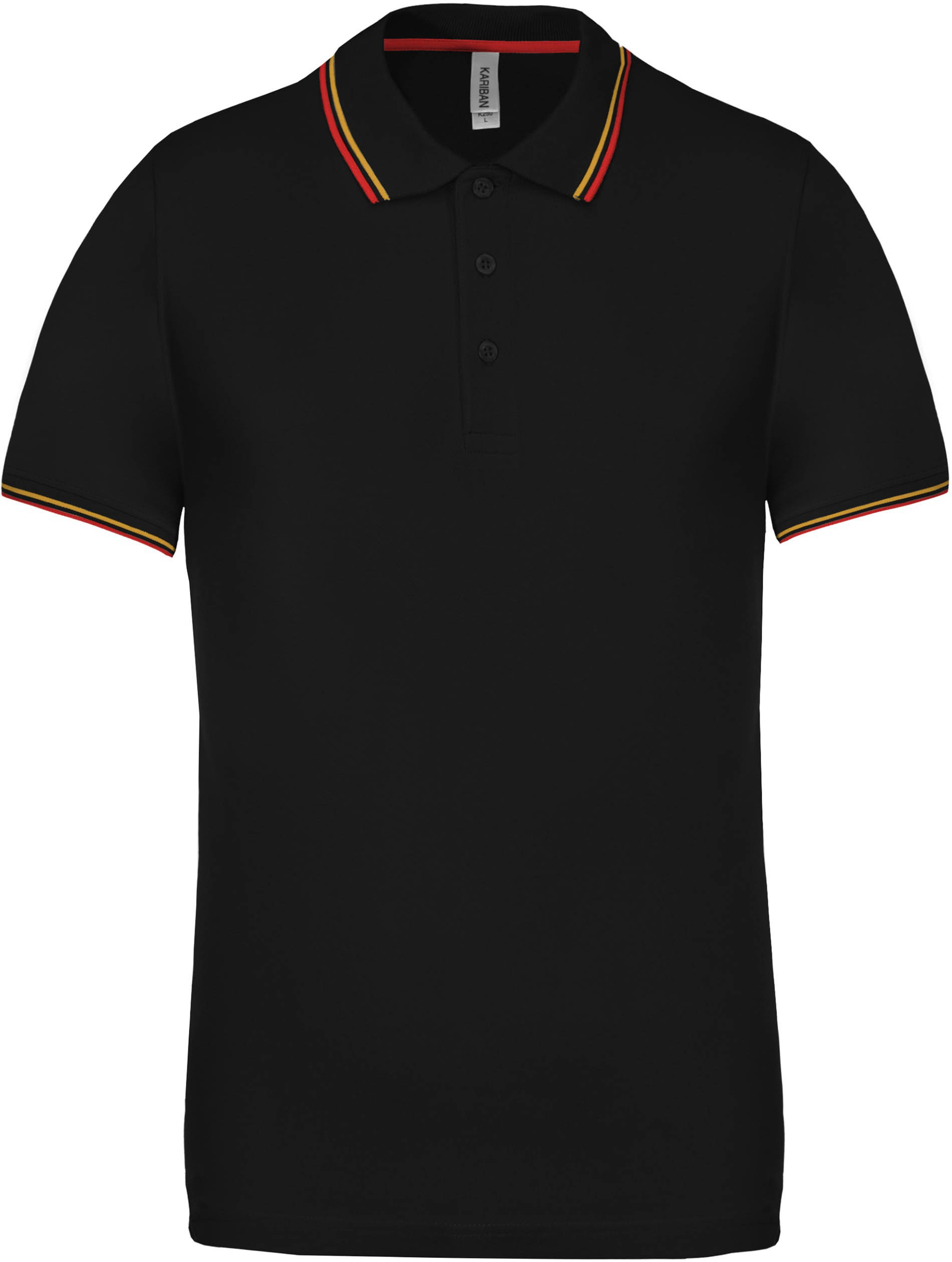 new appearance new arrive first look Kariban Men's Polo Shirt, Black/Red/Yellow, 3XL (Polo T-shirt, 90 ...