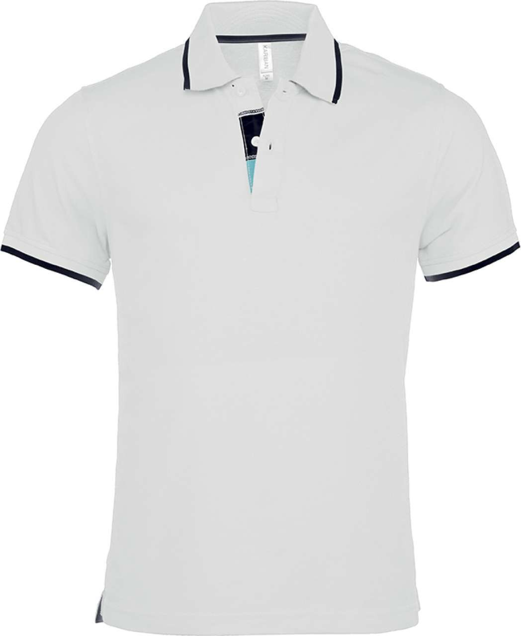 Black t shirt with white collar - Kariban Men S Polo Shirt White Navy Xl T Shirt
