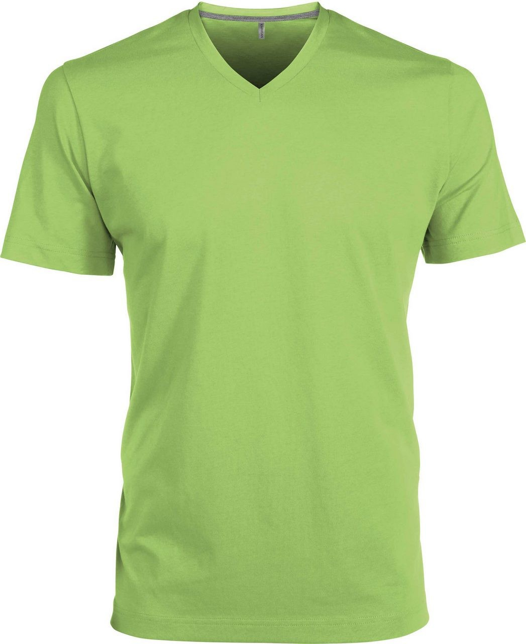 7936f6641c Kariban V-neck T-shirt, Lime, XL (T-shirt, 90-100% cotton ...