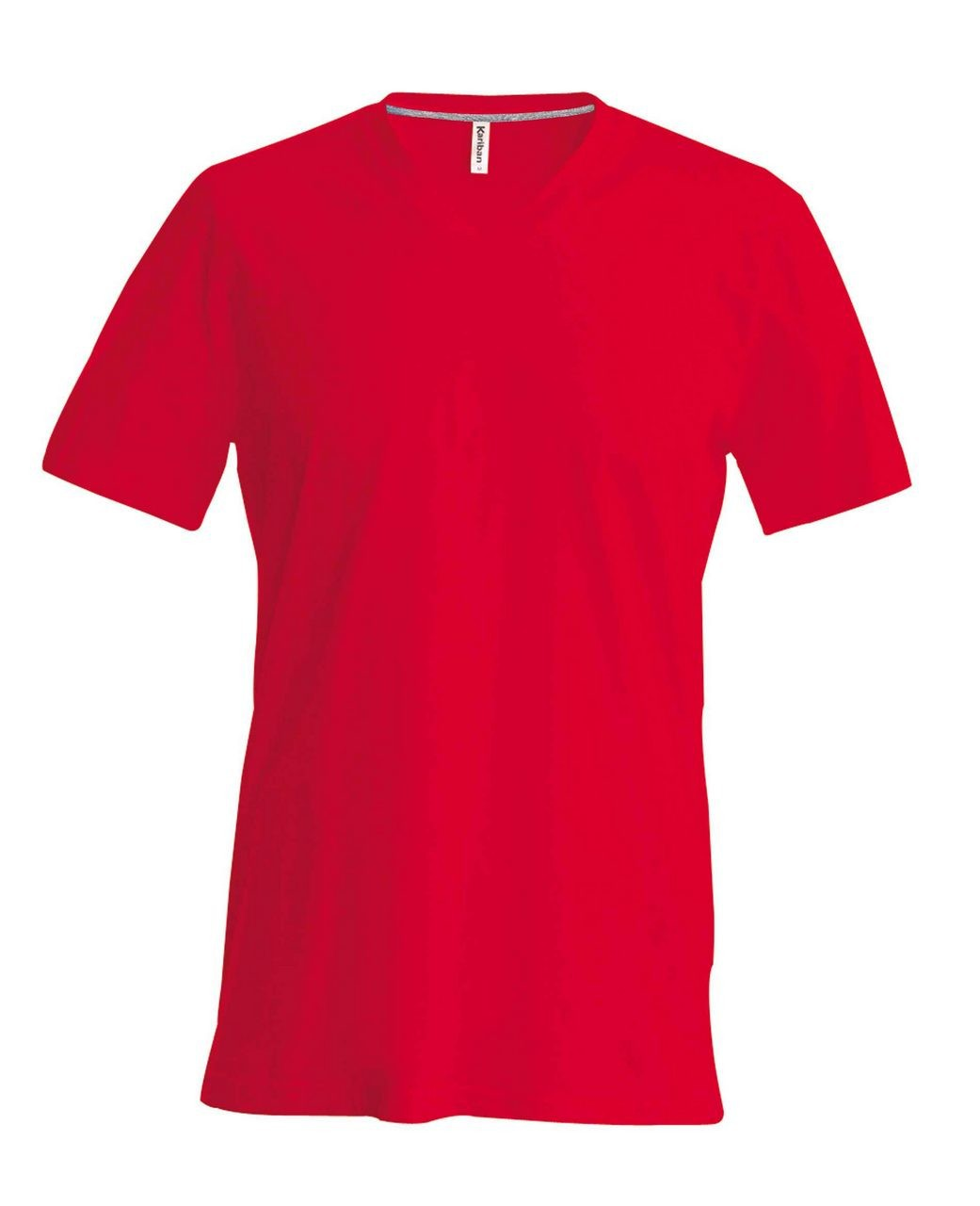 af87324a6a Kariban V-neck T-shirt, Red, S (T-shirt, 90-100% cotton ...