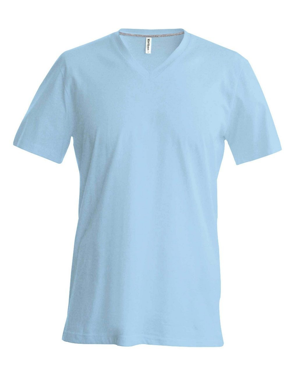 9a1f0b5674 Kariban V-neck T-shirt, Sky Blue, XL (T-shirt, 90-100% cotton ...