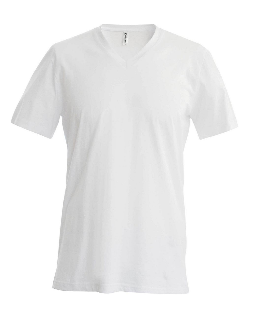 94d34336fa Kariban V-neck T-shirt, White, 4XL (T-shirt, 90-100% cotton ...