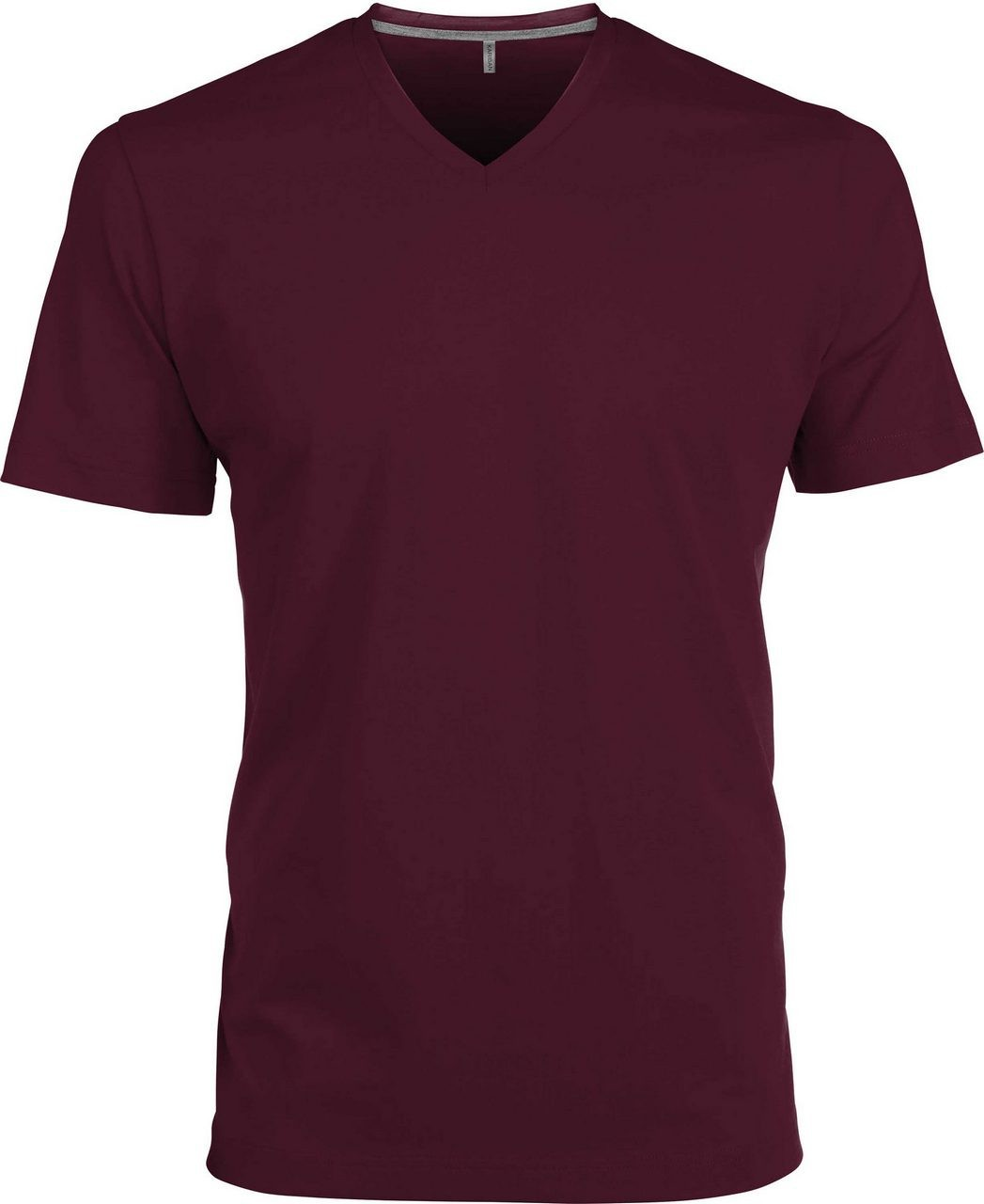 5ad7363a4e Kariban V-neck T-shirt, Wine, S (T-shirt, 90-100% cotton ...