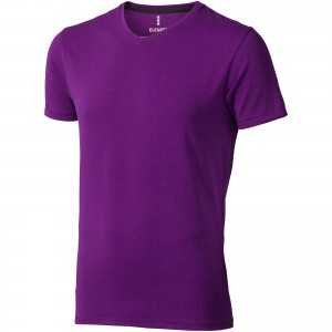 Kawartha short sleeve men's organic t-shirt, Plum (3801638)