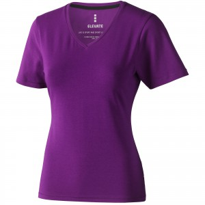 Kawartha short sleeve women's organic t-shirt, Plum (3801738)